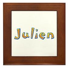 Julien Giraffe Framed Tile