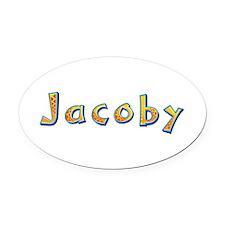 Jacoby Giraffe Oval Car Magnet