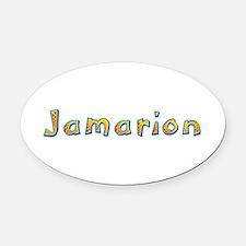 Jamarion Giraffe Oval Car Magnet