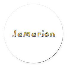 Jamarion Giraffe Round Car Magnet