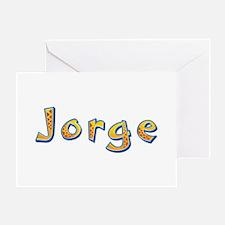 Jorge Giraffe Greeting Card
