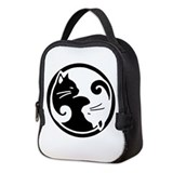 Cat yin yang Neoprene Lunch Bag