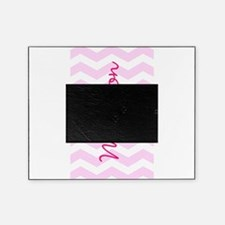 Customized name pink chevron Picture Frame
