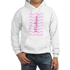 Customized name pink chevron Jumper Hoody
