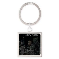 New York serie 1 Square Keychain