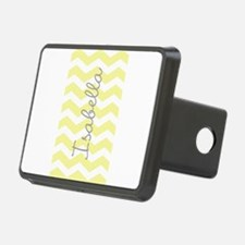 Personalized yellow chevron Hitch Cover