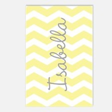 Personalized yellow chevron Postcards (Package of