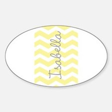 Personalized yellow chevron Decal