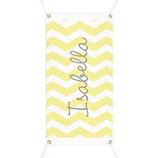 Personalized yellow chevron Banner