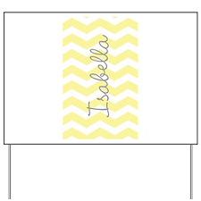 Personalized yellow chevron Yard Sign