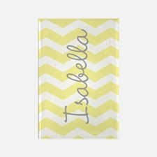 Personalized yellow chevron Magnets