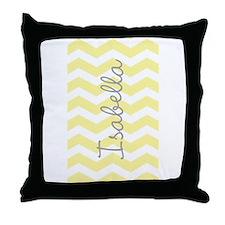 Personalized yellow chevron Throw Pillow