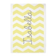 Personalized yellow chevron 5'x7'Area Rug