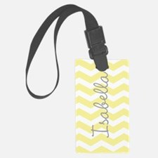 Personalized yellow chevron Luggage Tag