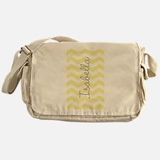 Personalized yellow chevron Messenger Bag
