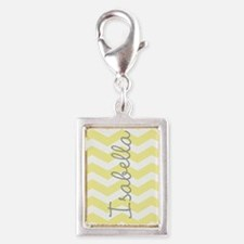 Personalized yellow chevron Charms