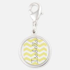 Personalized yellow chevron Charms