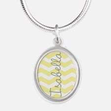 Personalized yellow chevron Necklaces