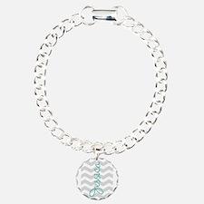 Custom name gray chevron Bracelet