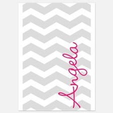 Personal name grey chevron Invitations