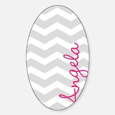 Personal name grey chevron Decal