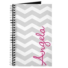 Personal name grey chevron Journal