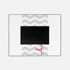 Personal name grey chevron Picture Frame