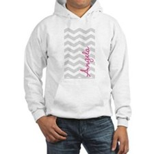 Personal name grey chevron Jumper Hoody