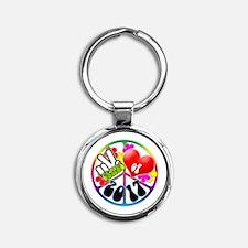 Peace Love 2017 Round Keychain