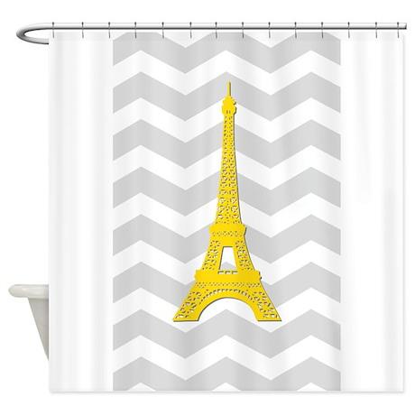 Yellow Paris Gray Chevron Shower Curtain By Admin Cp49789583