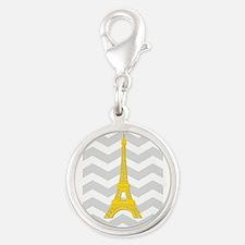 Yellow Paris Gray Chevron Charms