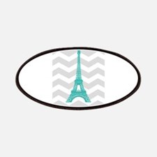 Turquoise Paris Grey Chevron Patches