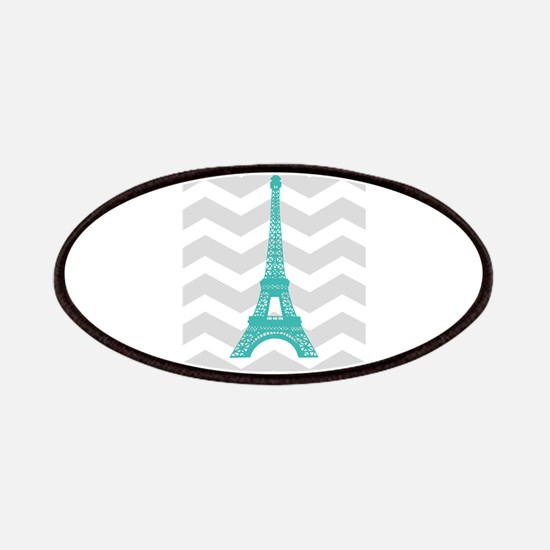 Turquoise Paris Grey Chevron Patches