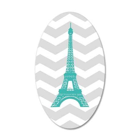 turquoise paris grey chevron wall sticker by admin cp49789583