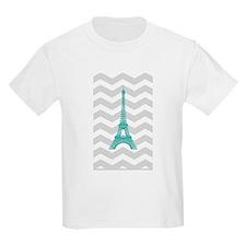 Turquoise Paris Grey Chevron T-Shirt