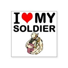 I Love My Soldier Sticker