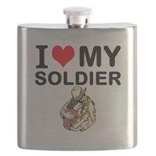 I Love My Soldier Flask