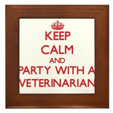 Keep Calm and Party With a Veterinarian Framed Til