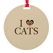 I Heart Cats Ornament