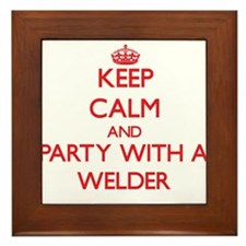 Keep Calm and Party With a Welder Framed Tile