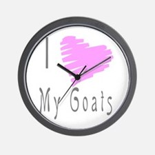 I heart my goat Wall Clock