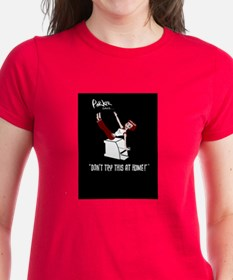Women's Black tee shirt,Parker does the Teaser !