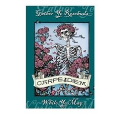 Carpe Diem Skeleton Postcards (Package Of 8) Postc