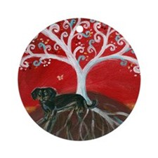 Dachshund Tree of Life Ornament (Round)