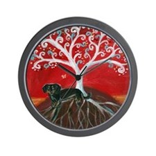 Dachshund Tree of Life Wall Clock