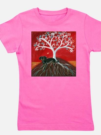 Dachshund Tree of Life Girl's Tee