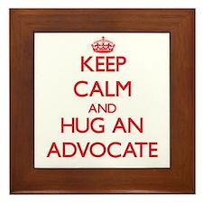 Keep Calm and Hug an Advocate Framed Tile