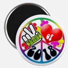 Peace Love 2018 Magnet