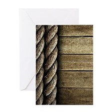 Rope and Wood Texture Greeting Card