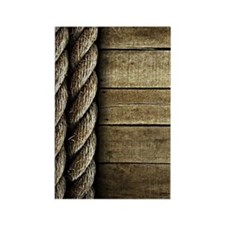 Rope and Wood Texture Rectangle Magnet